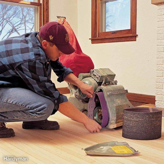 Hardwood Floor Sanding Equipment: Change Belts Often
