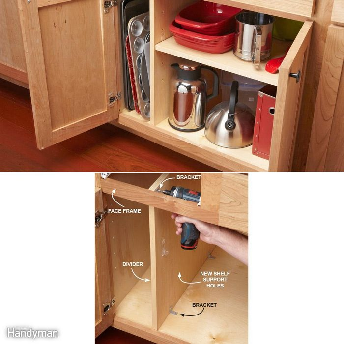 Kitchen Cabinet Dividers: Add a Divider for Upright Storage