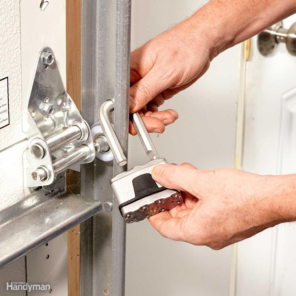 Lock Up the Overhead Door & Inexpensive Ways to Theft-Proof Your Home u2014 The Family Handyman