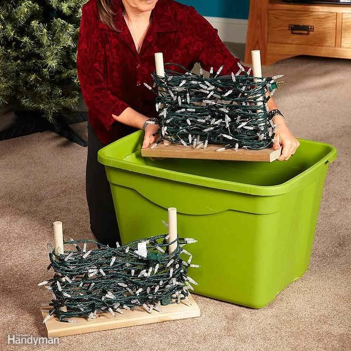 Make Holiday Light Storage Stands