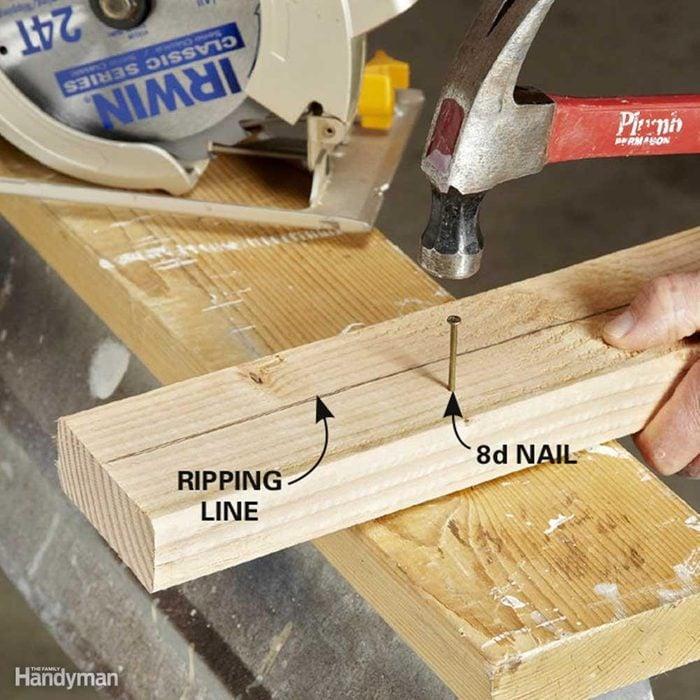 Use an 8d Nail as a Third Hand