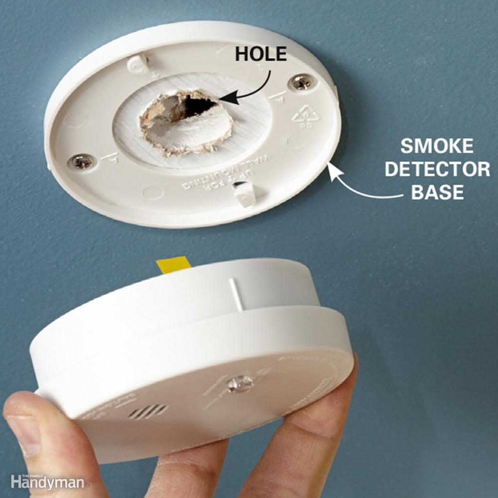 Hide a Hole With a Smoke Detector