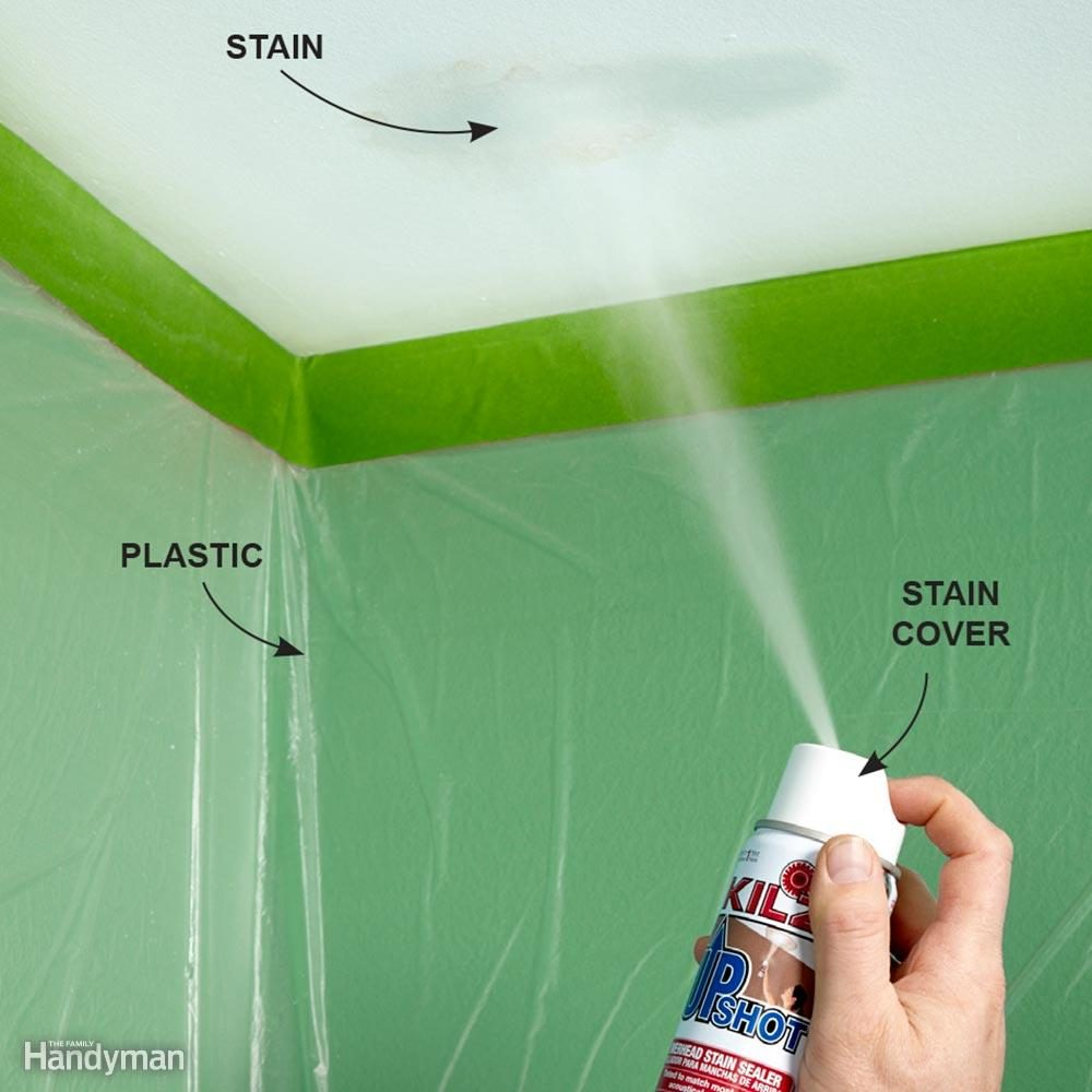 Cover Up a Ceiling Stain