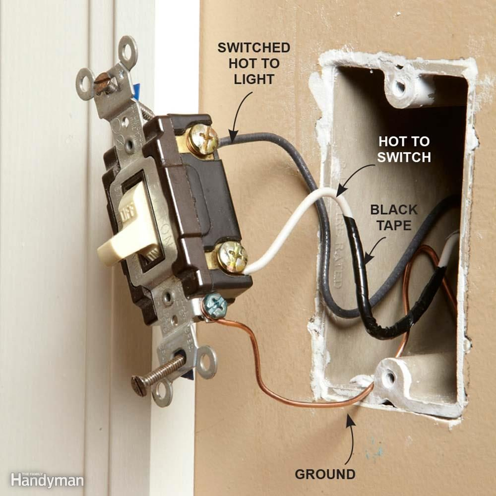 Wiring a Switch and Outlet the Safe and Easy Way | Family Handyman on old push button switch, old light dimmer switch, old light bulb, old light switches, old light pull switch, old light switch knob, old light switch with wire wire, old light pull chain, old light parts,