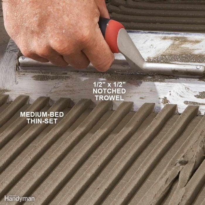 Pick a Large-Notched Trowel for Big Tile
