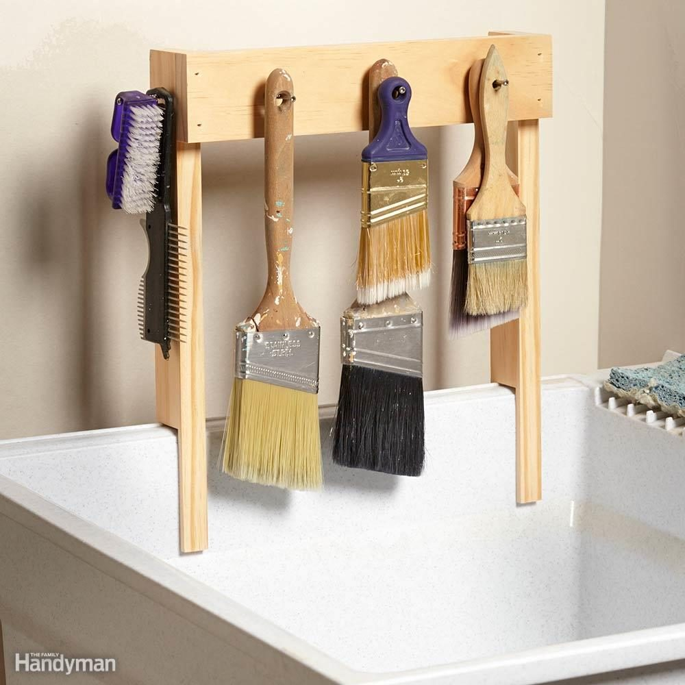 Simple Paintbrush Drying Rack