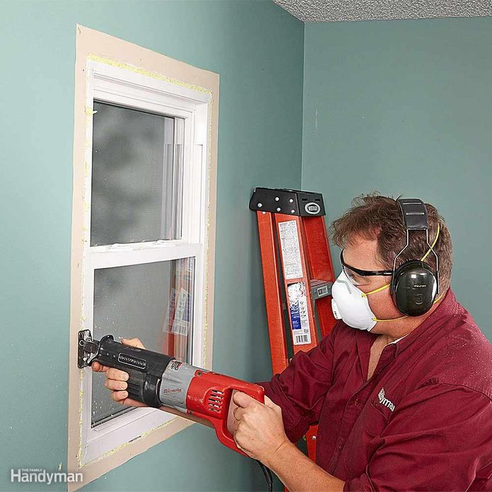 Cut Around the Window With a Recip Saw