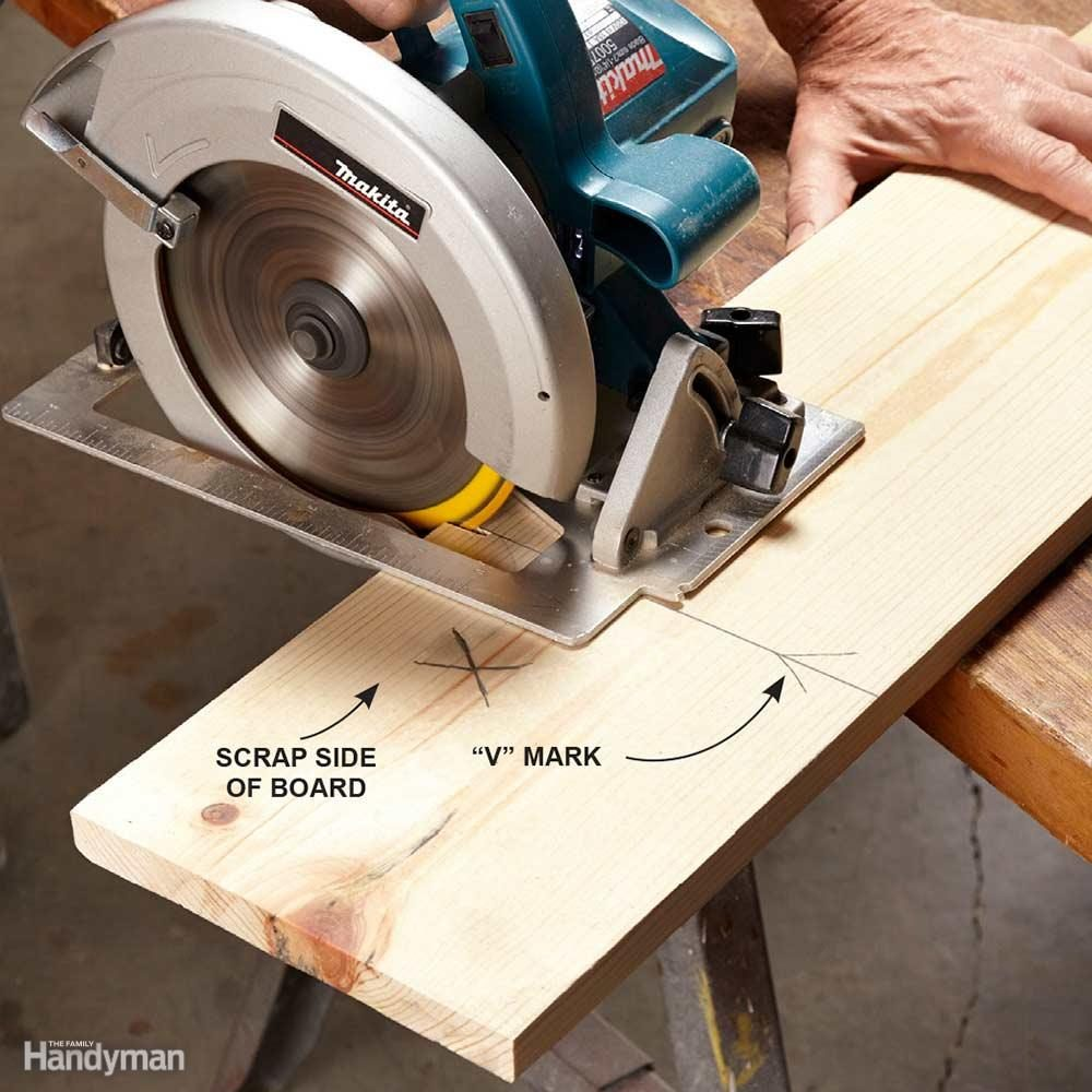 How to use a circular saw family handyman start with accurate marks greentooth Gallery
