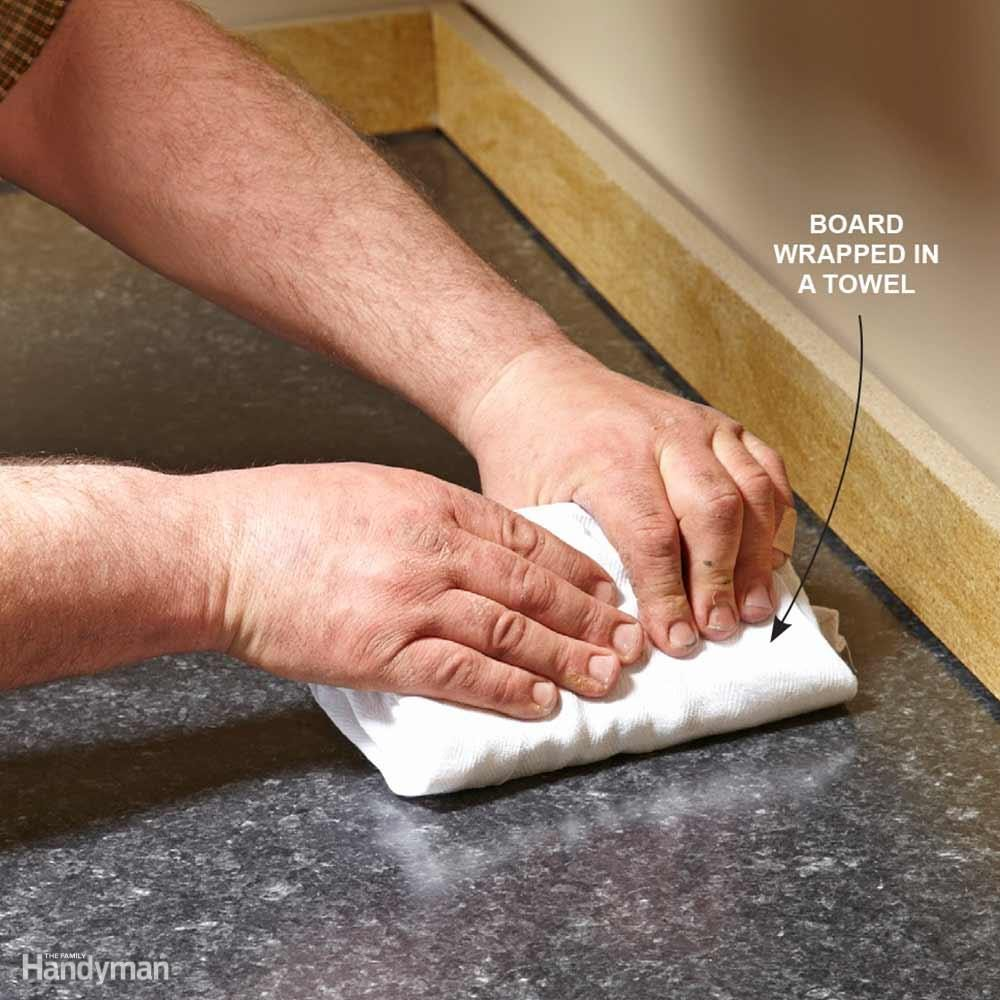 how to cut through laminate countertop
