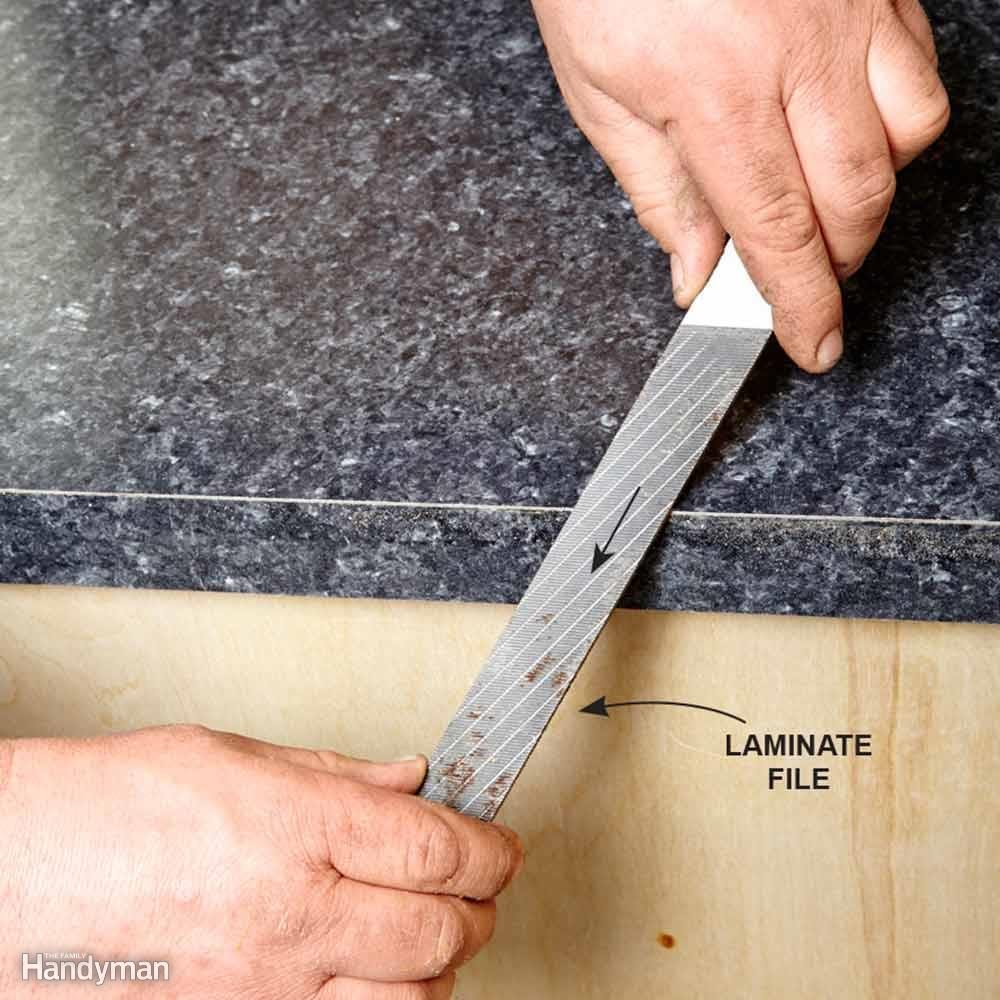 installing laminate countertops family handyman. Black Bedroom Furniture Sets. Home Design Ideas