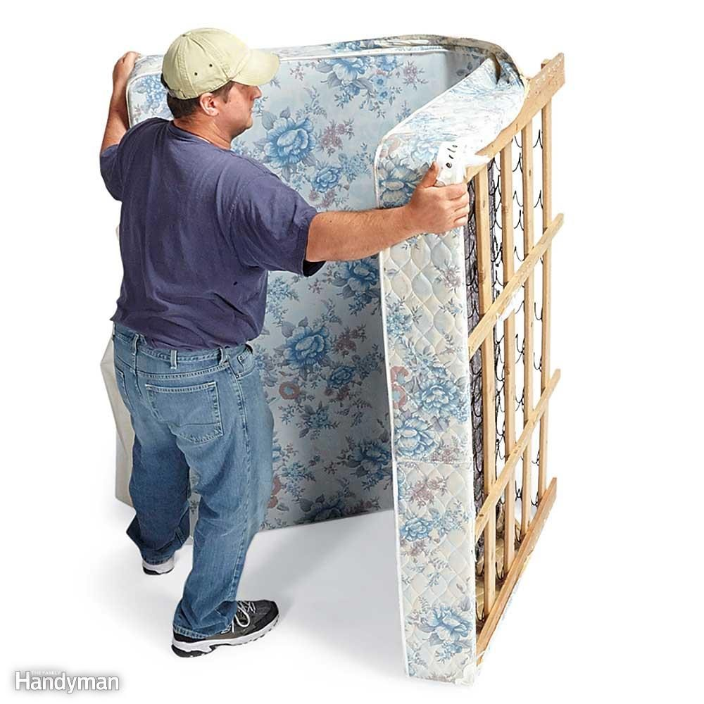Cut and Fold a Box Spring. 14 Tips for Moving Furniture   Family Handyman
