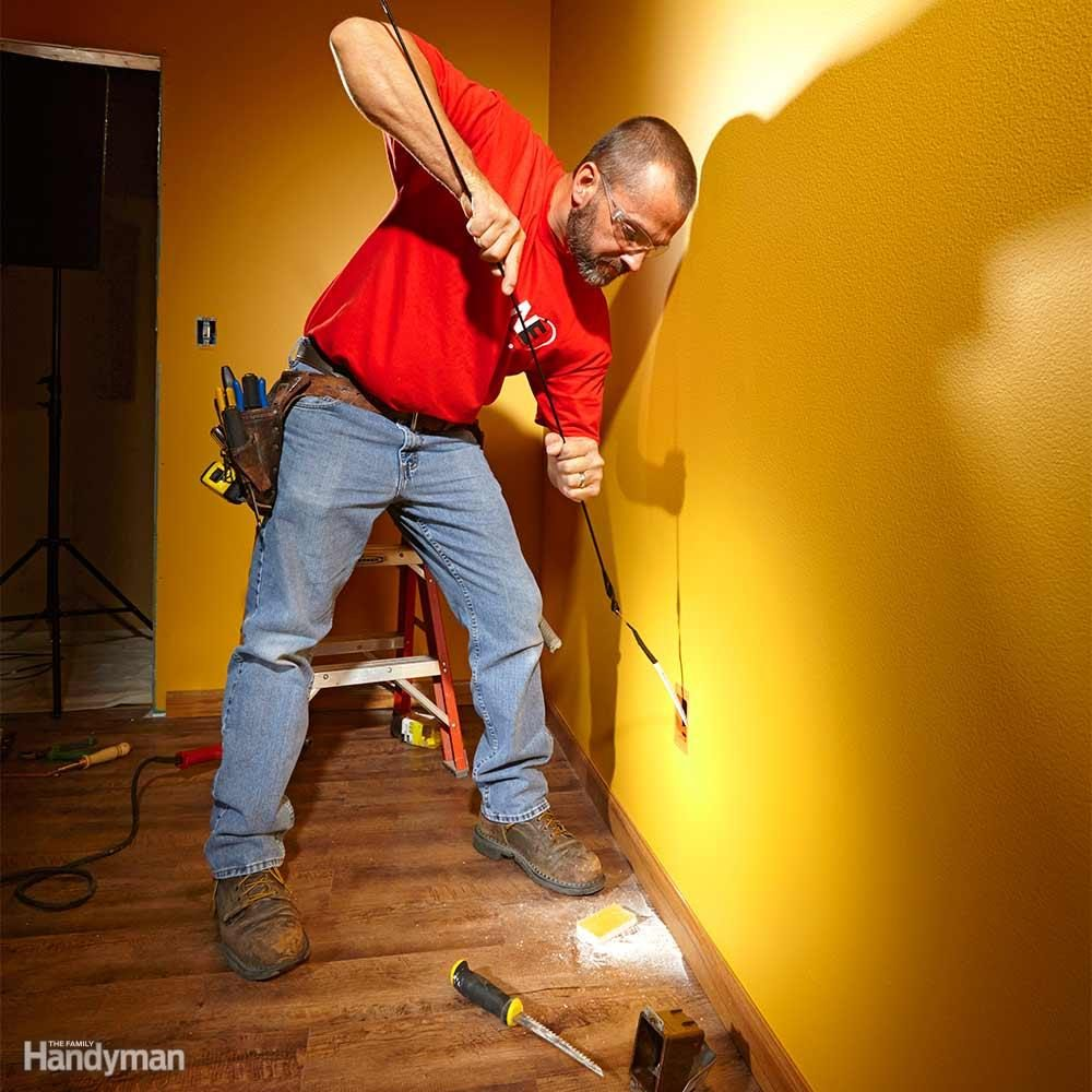 Fishing Electrical Wire Through Walls The Family Handyman