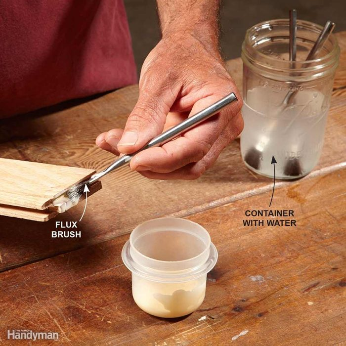 Apply Wood Glue With a Flux Brush