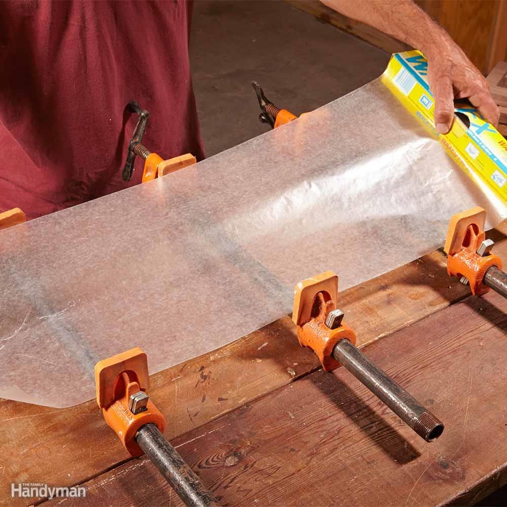 Cover Bar Clamps With Wax Paper