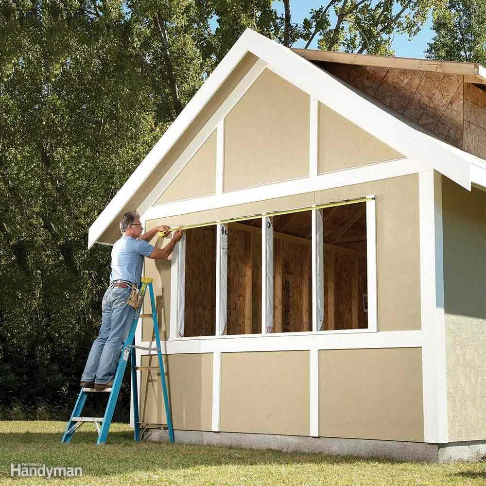 Diy Shed Building Tips The Family Handyman Would Like Info On Wiring A For Electricity I Need Dress Up Plain With Trim