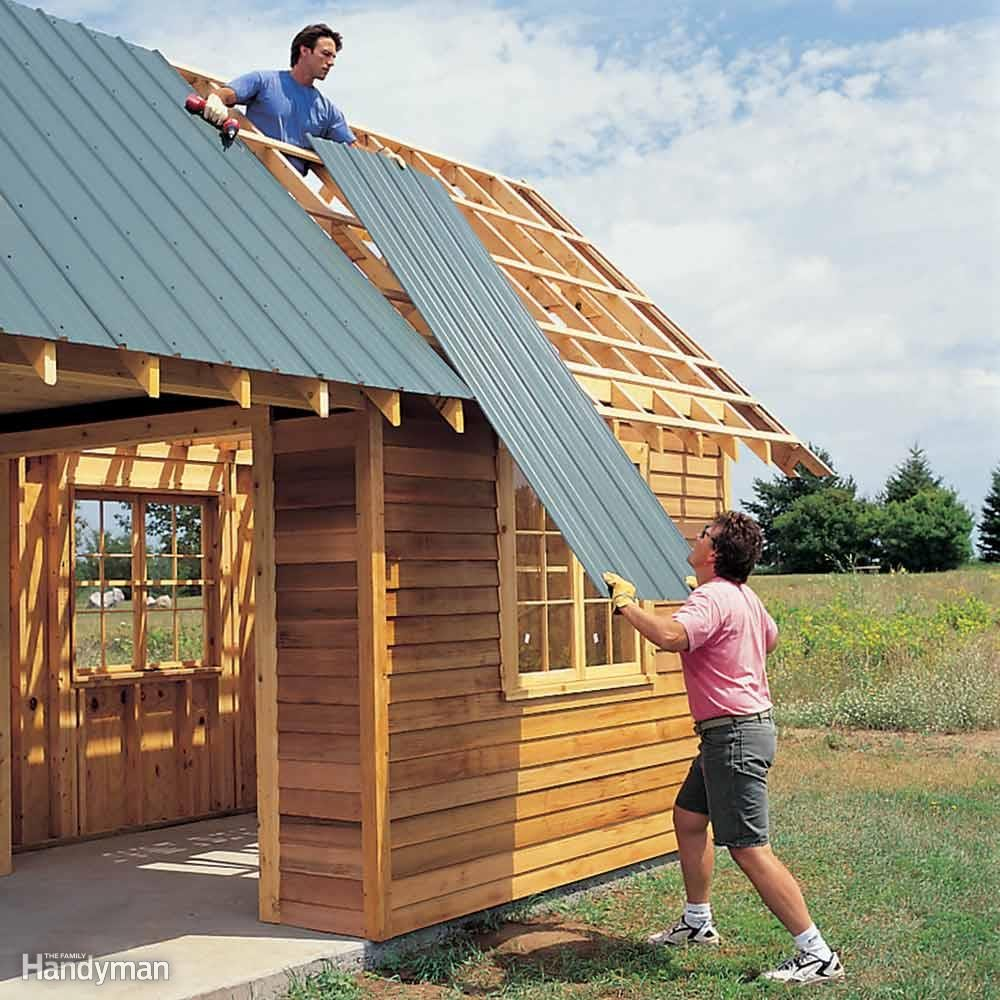 Diy shed building tips the family handyman for Building onto a house