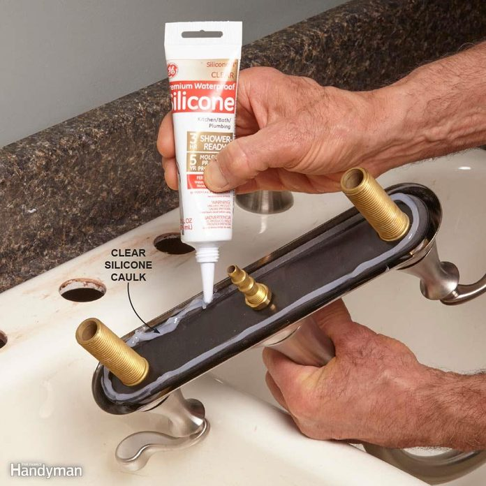 Mount the Faucet With Silicone