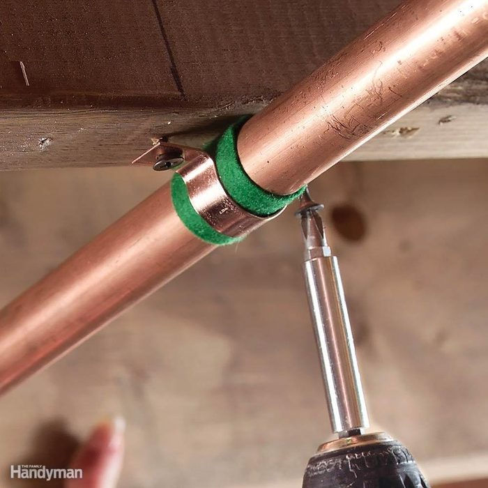 Fix for Noisy Pipes: Cushion the Pipe Hangers