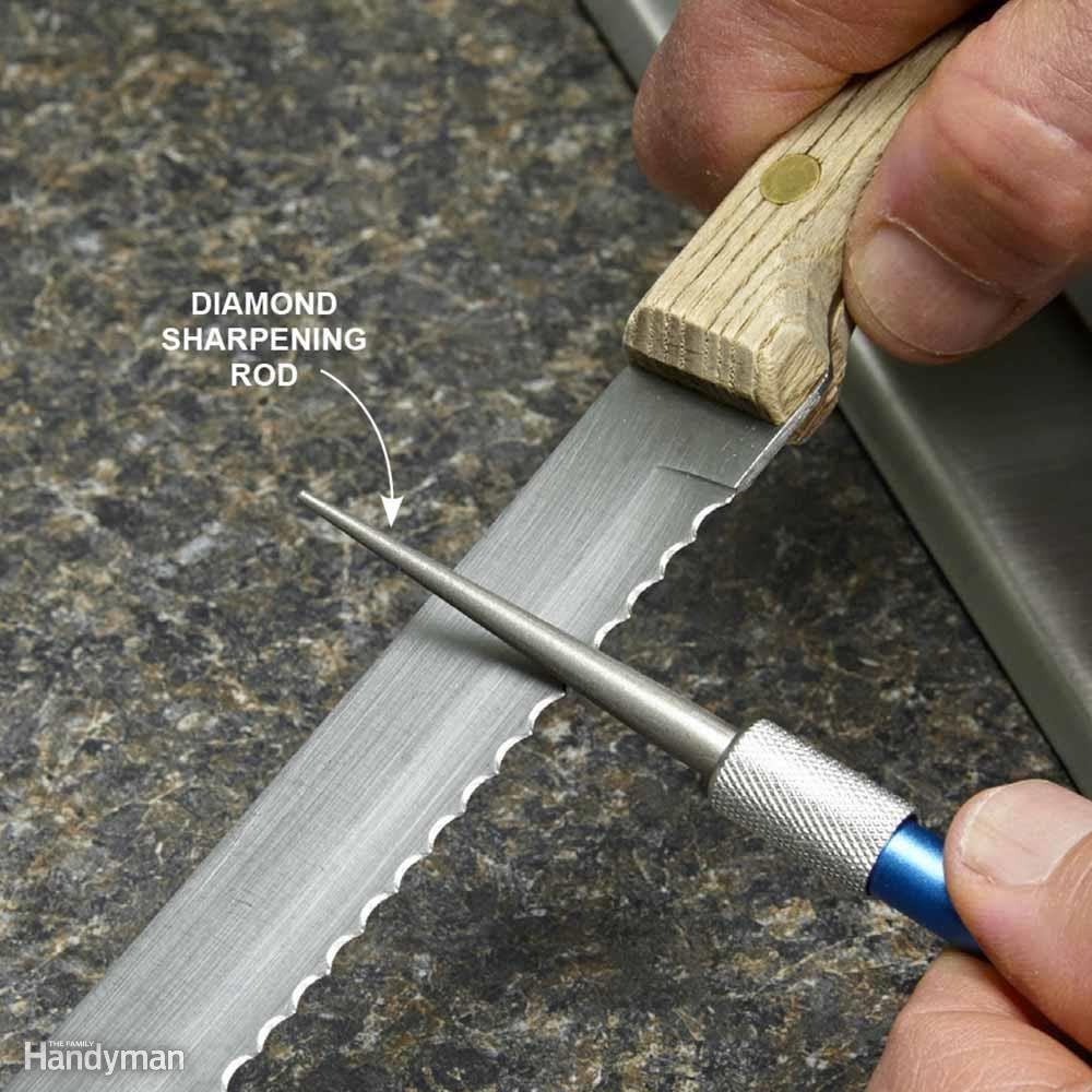 sharpening knives scissors and tools family handyman sharpen serrated knives with a diamond sharpening steel