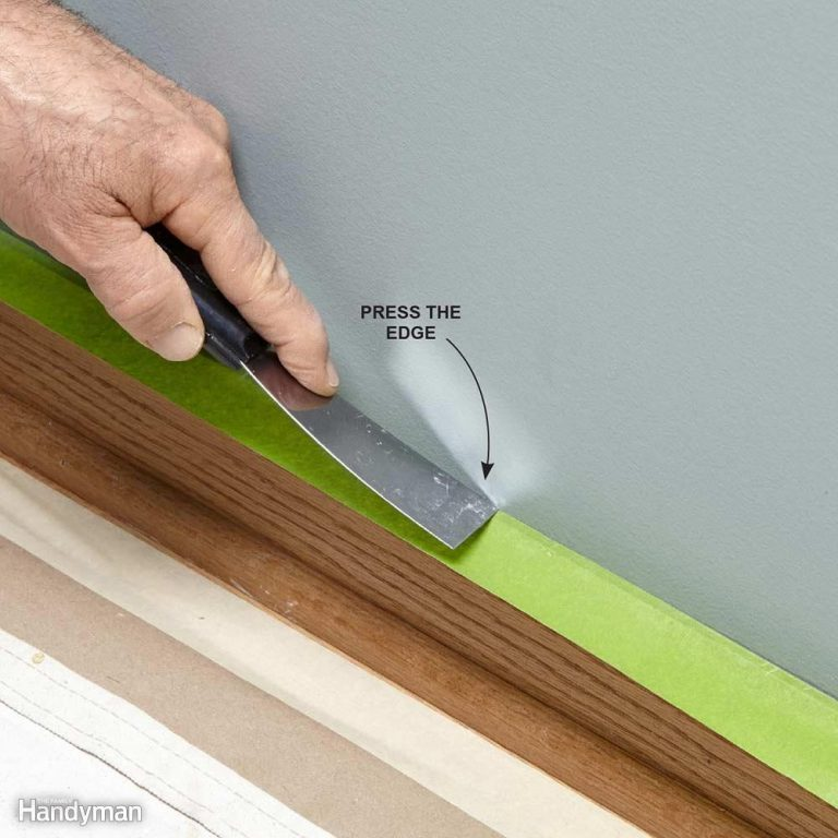 Press Down Painter's Tape to Ensure a Good Bond