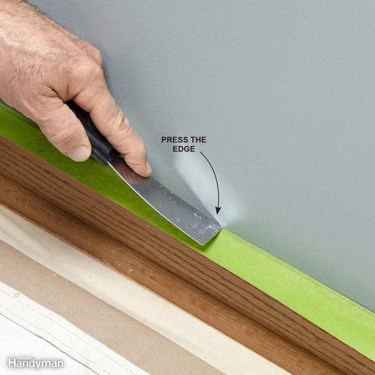 Press Down Painter's Tape to Ensure a Good Bond