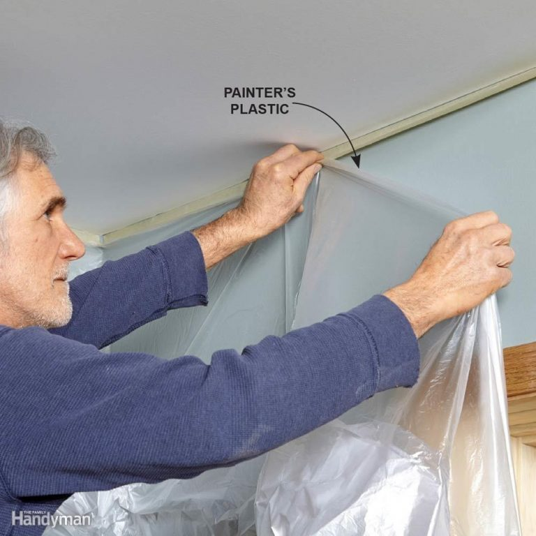 How to Protect Walls When Painting a Ceiling