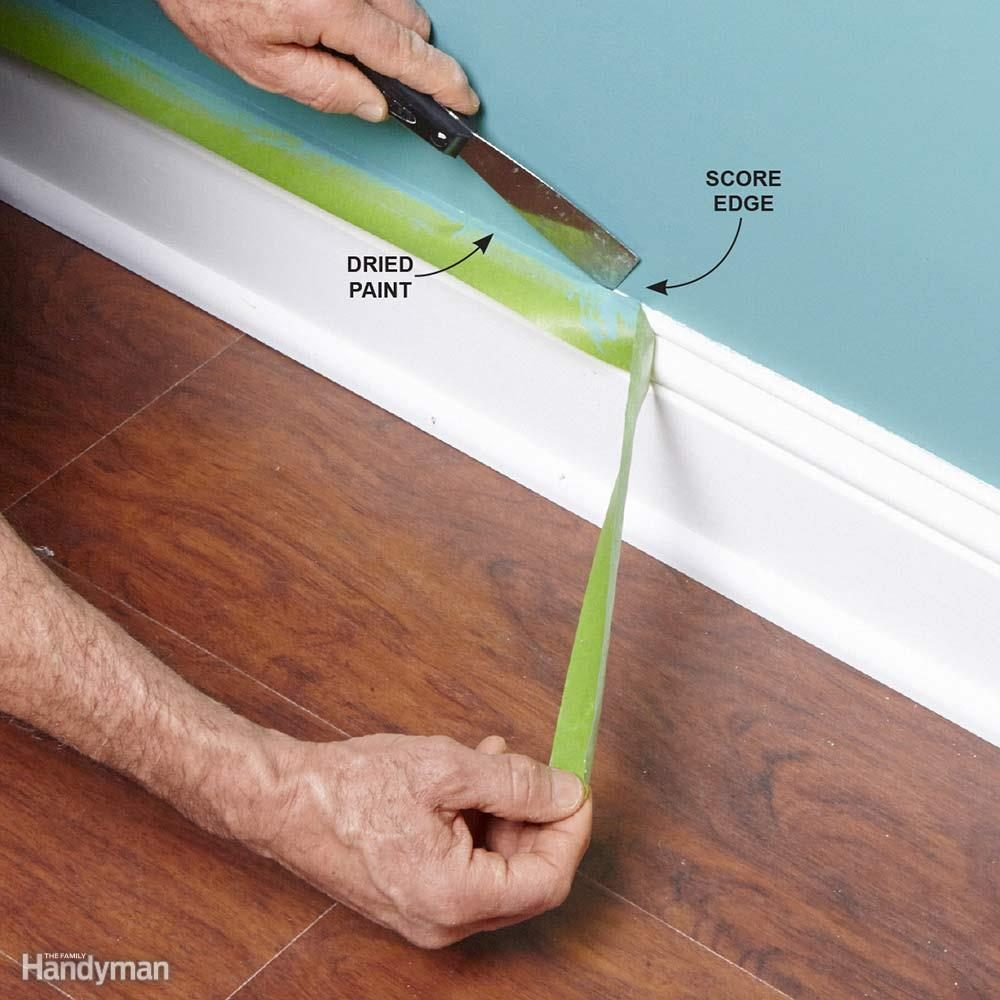 tips for how to use painters tape family handyman. Black Bedroom Furniture Sets. Home Design Ideas