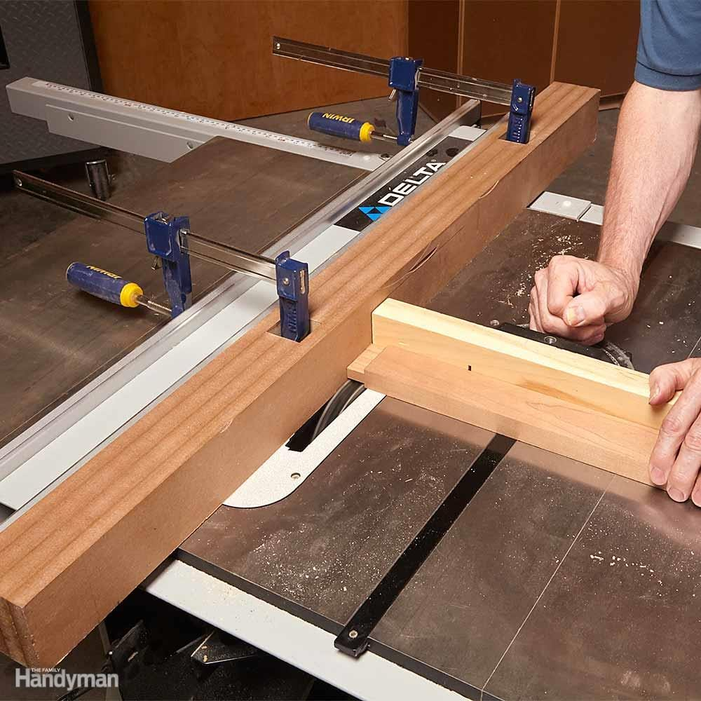 Sacrificial Table Saw Fence