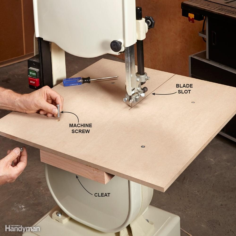 How to use a bandsaw essential bandsaw tips tricks family install a bigger table keyboard keysfo Gallery