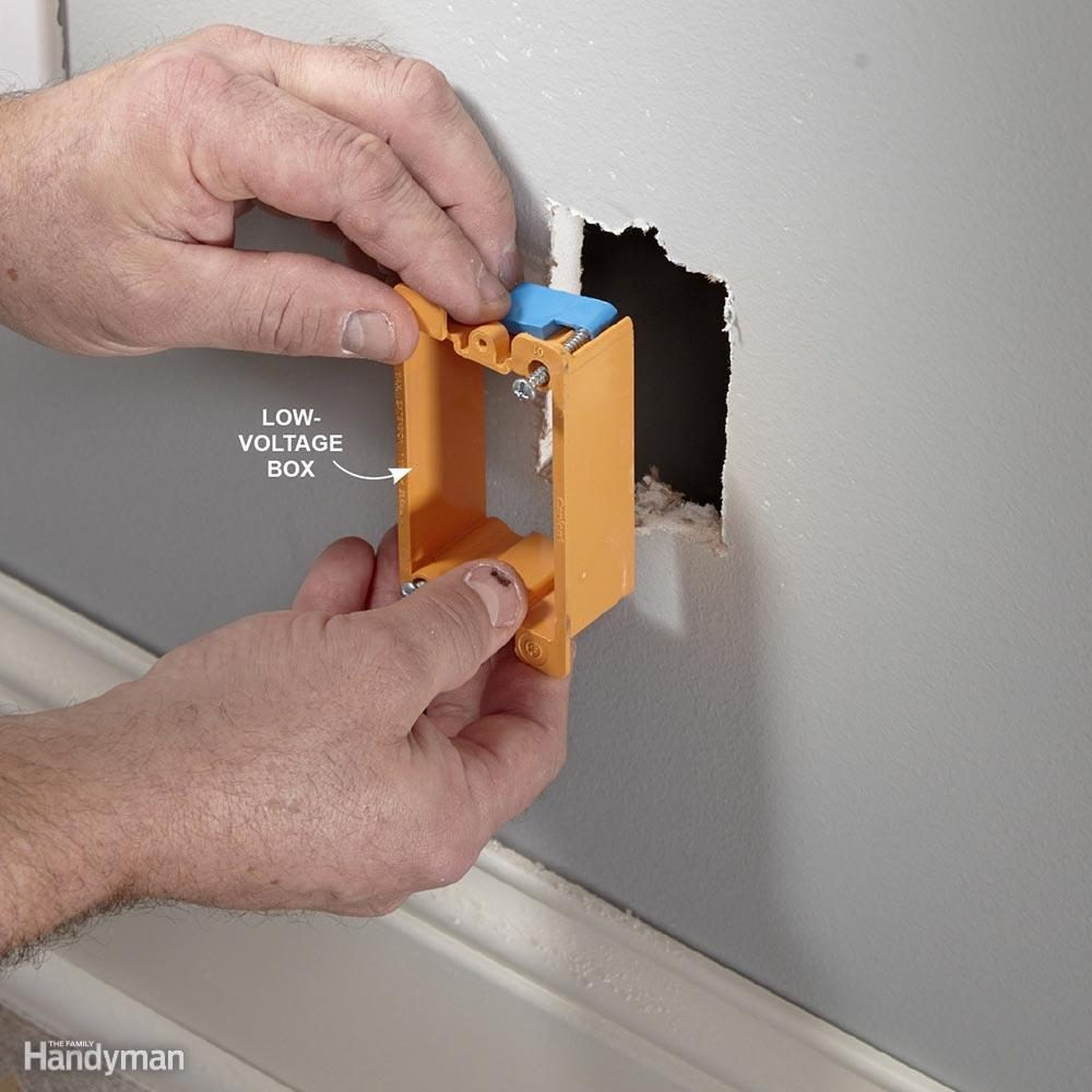 Install a Low-Voltage Box for Coaxial Cable