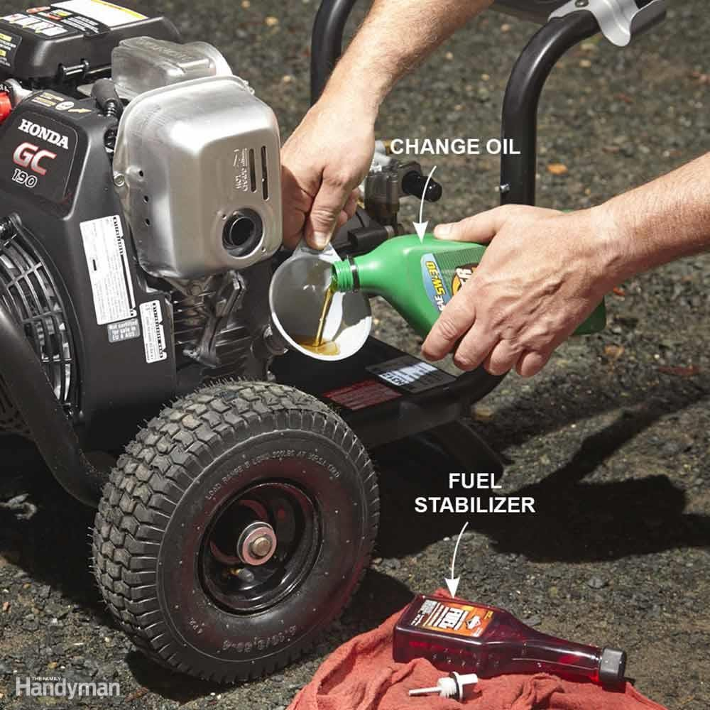 Prep a Pressure Washer Engine for Storage