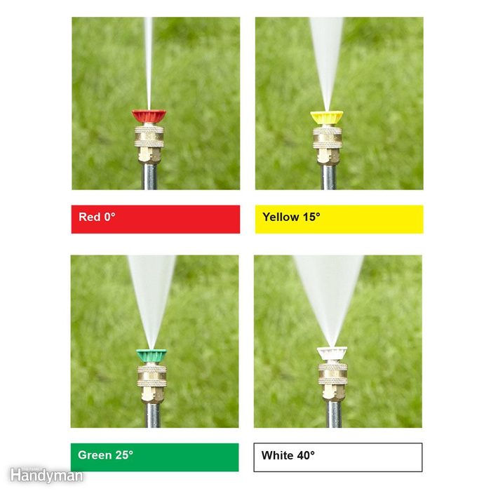 Use the Right Pressure Washer Nozzle for the Job