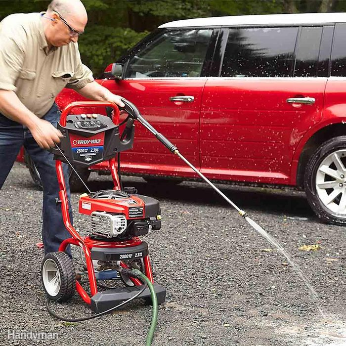 Pull the Pressure Washer Trigger First