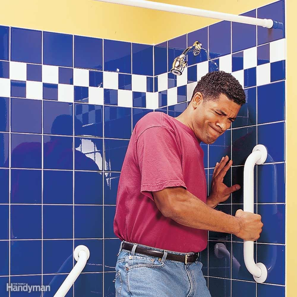 Add Shower Grab Bars and Do the Yank Test