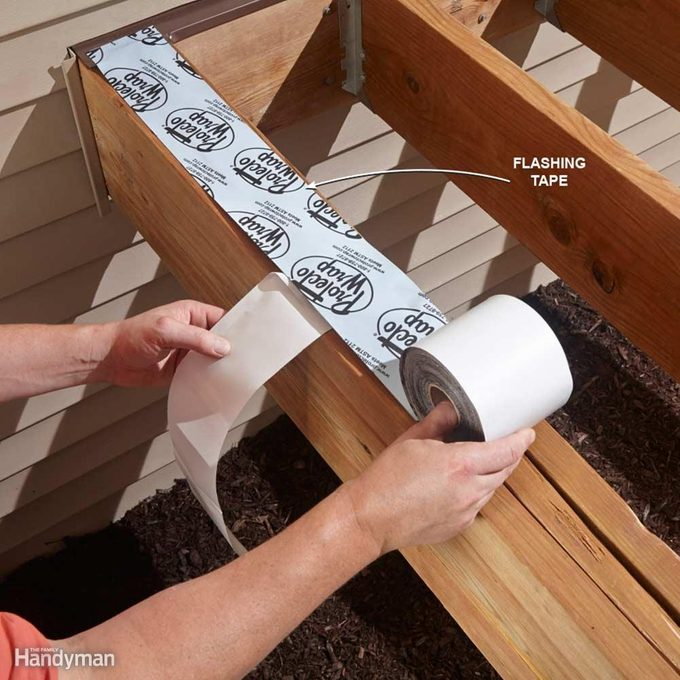 Avoid Deck Rot with Flashing Tape