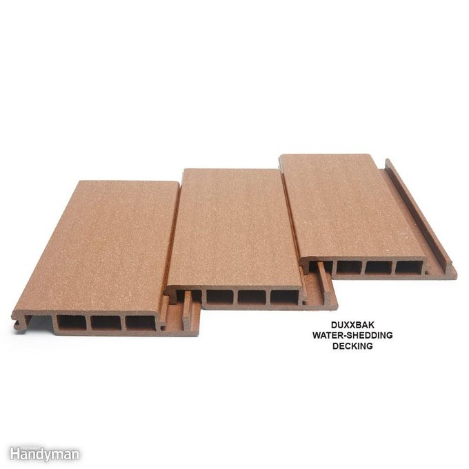 Water-Shedding Composite Decking