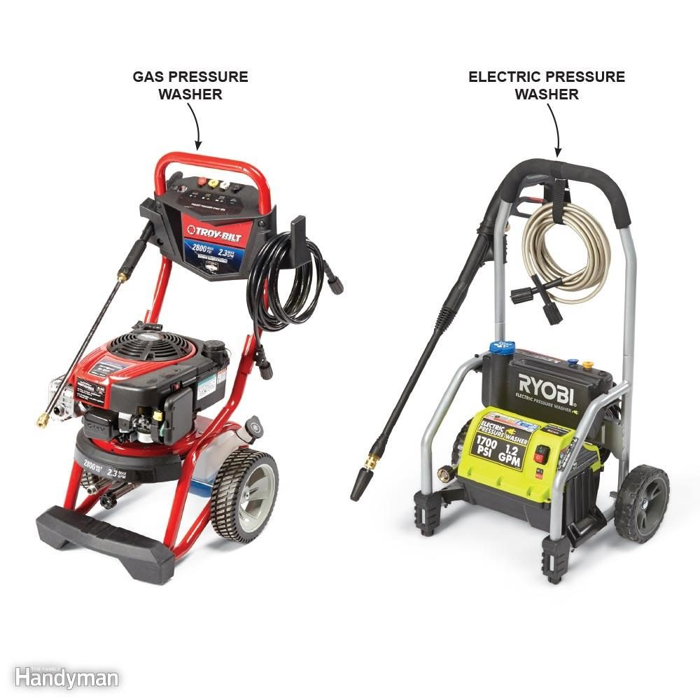 Gas vs. Electric Pressure Washer Reviews