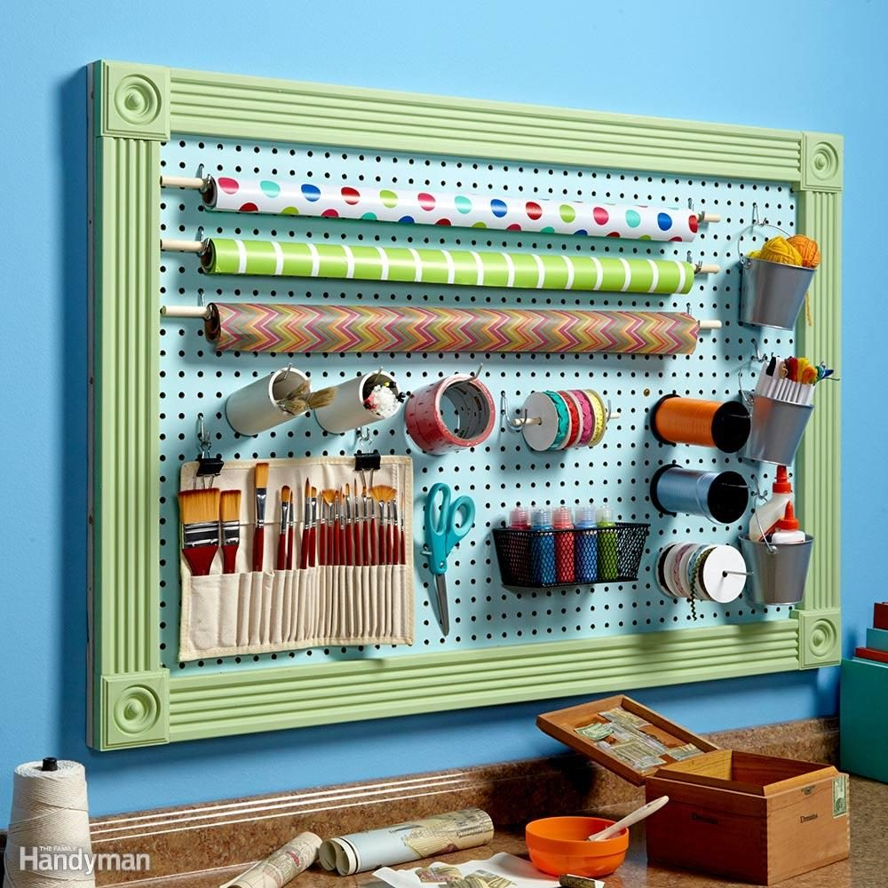 Organize Anything with Pegboards: 14 Ideas and Tips | Family ...