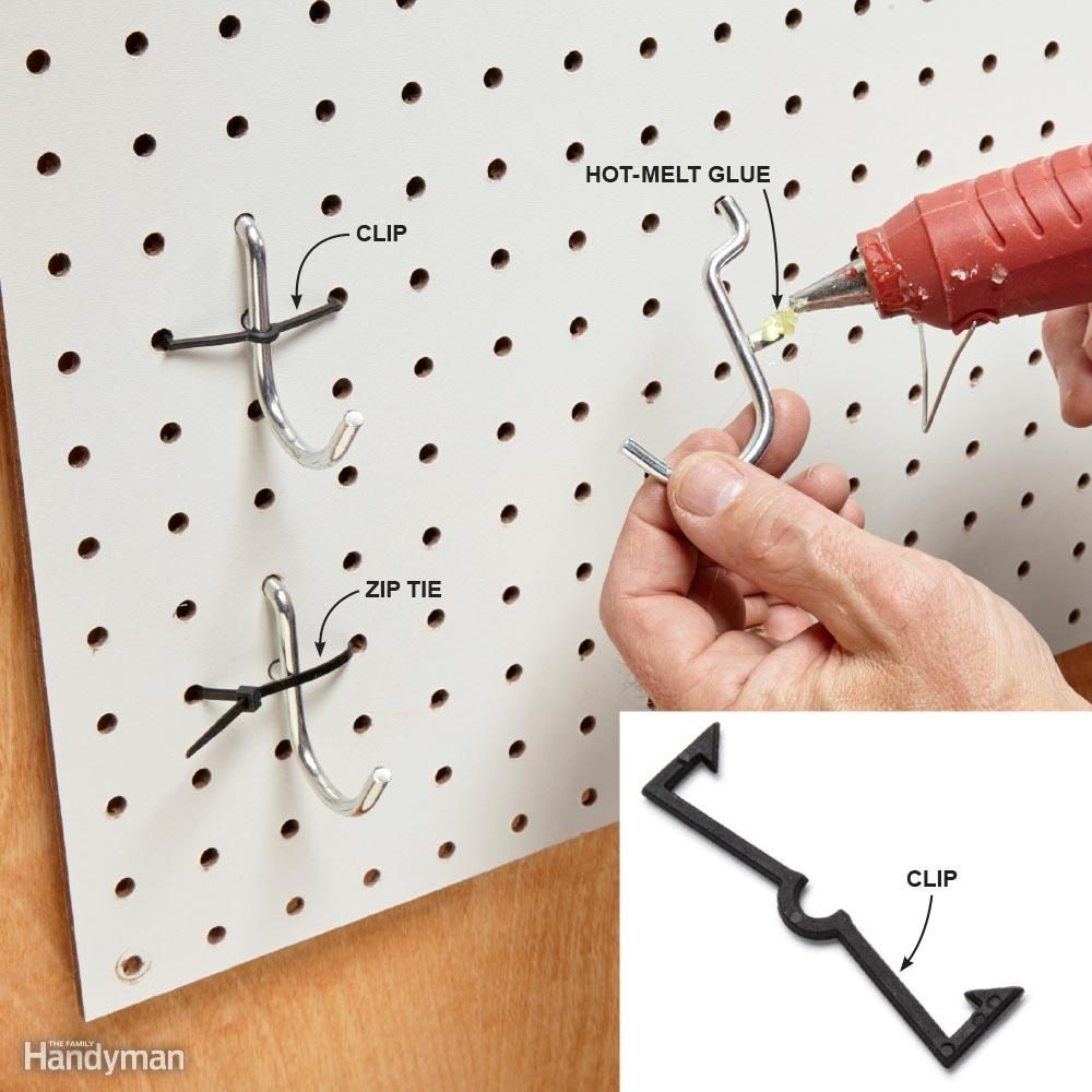 Lock In the Pegboard Hooks