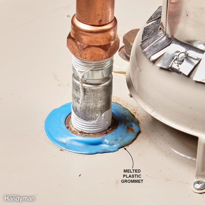 Melted Grommets on Water Heater?