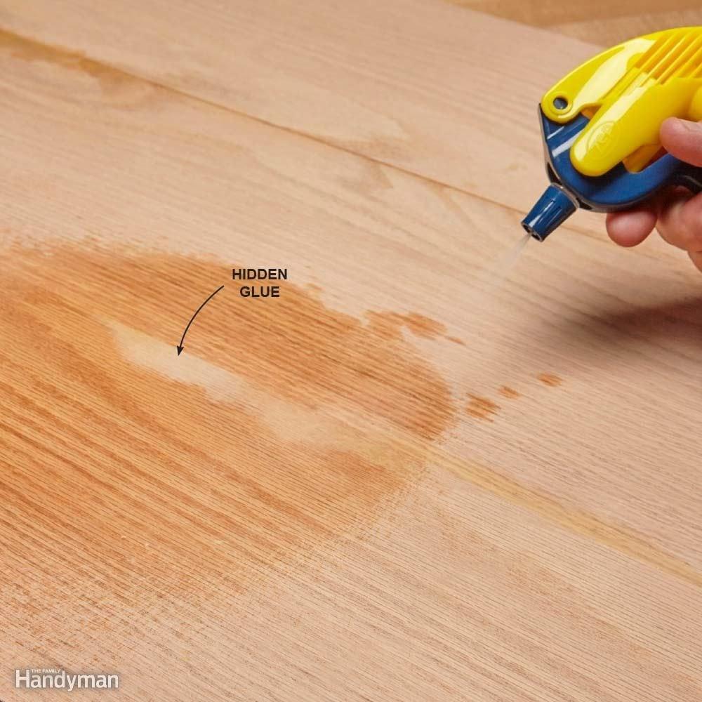How To Glue Wood The Family Handyman - Stick down hardwood flooring