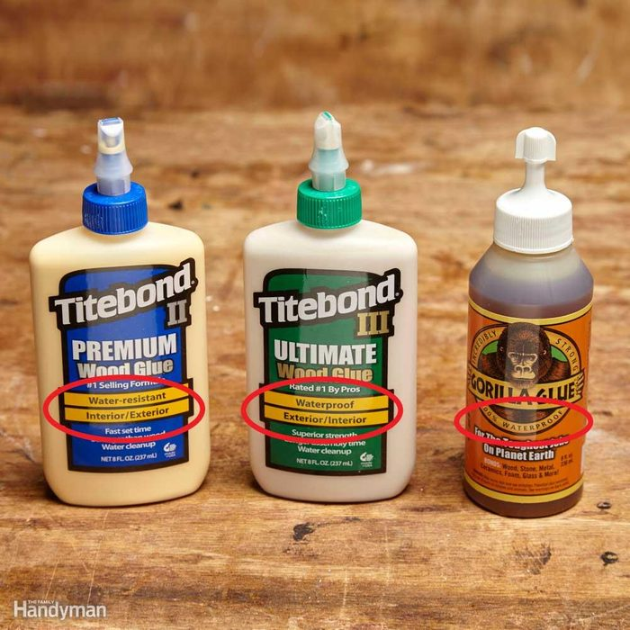 Use Waterproof Glue for Outdoor Projects