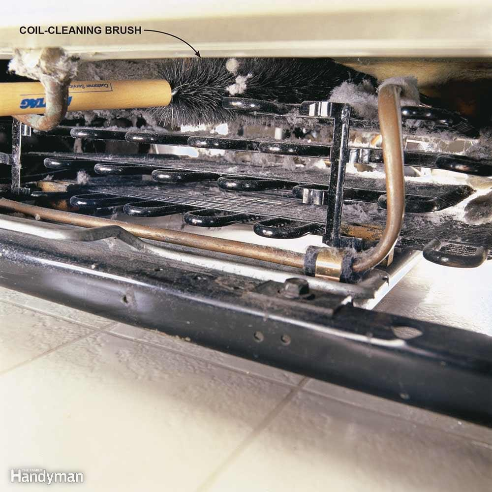 how to clean refrigerator condenser coils