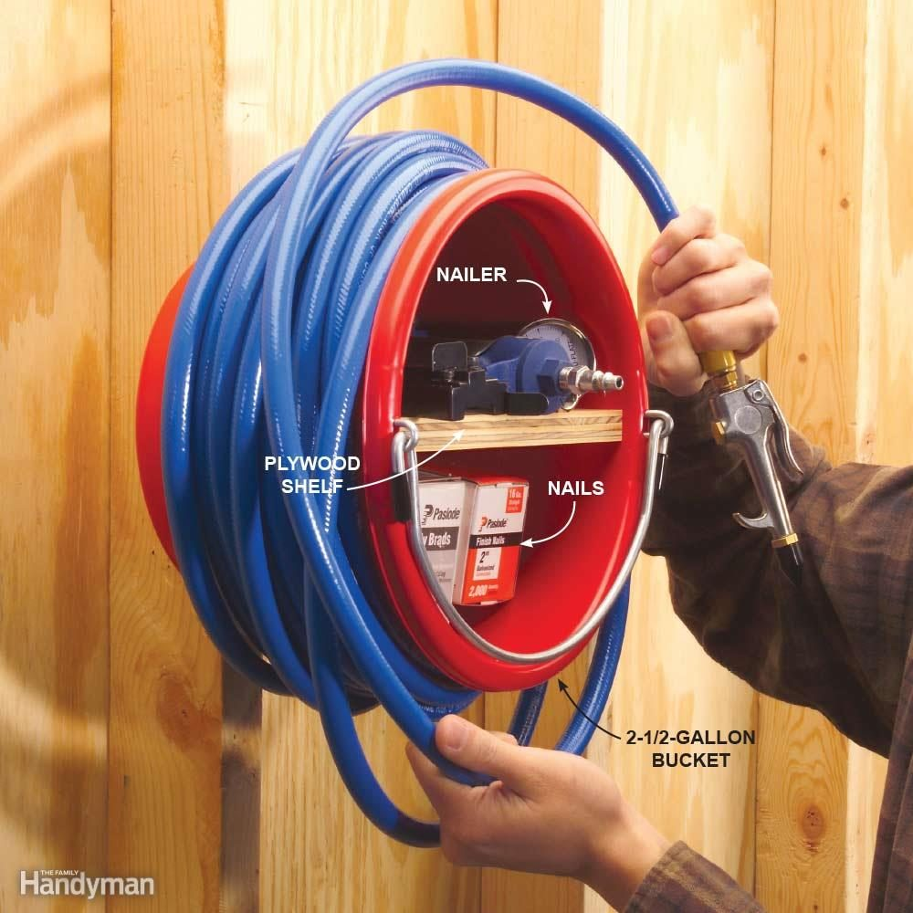 Quick And Clever Workshop Storage Solutions The Family Handyman These Wires It Can Also Be Used To Create Labels For Your Electrical Air Tool Station