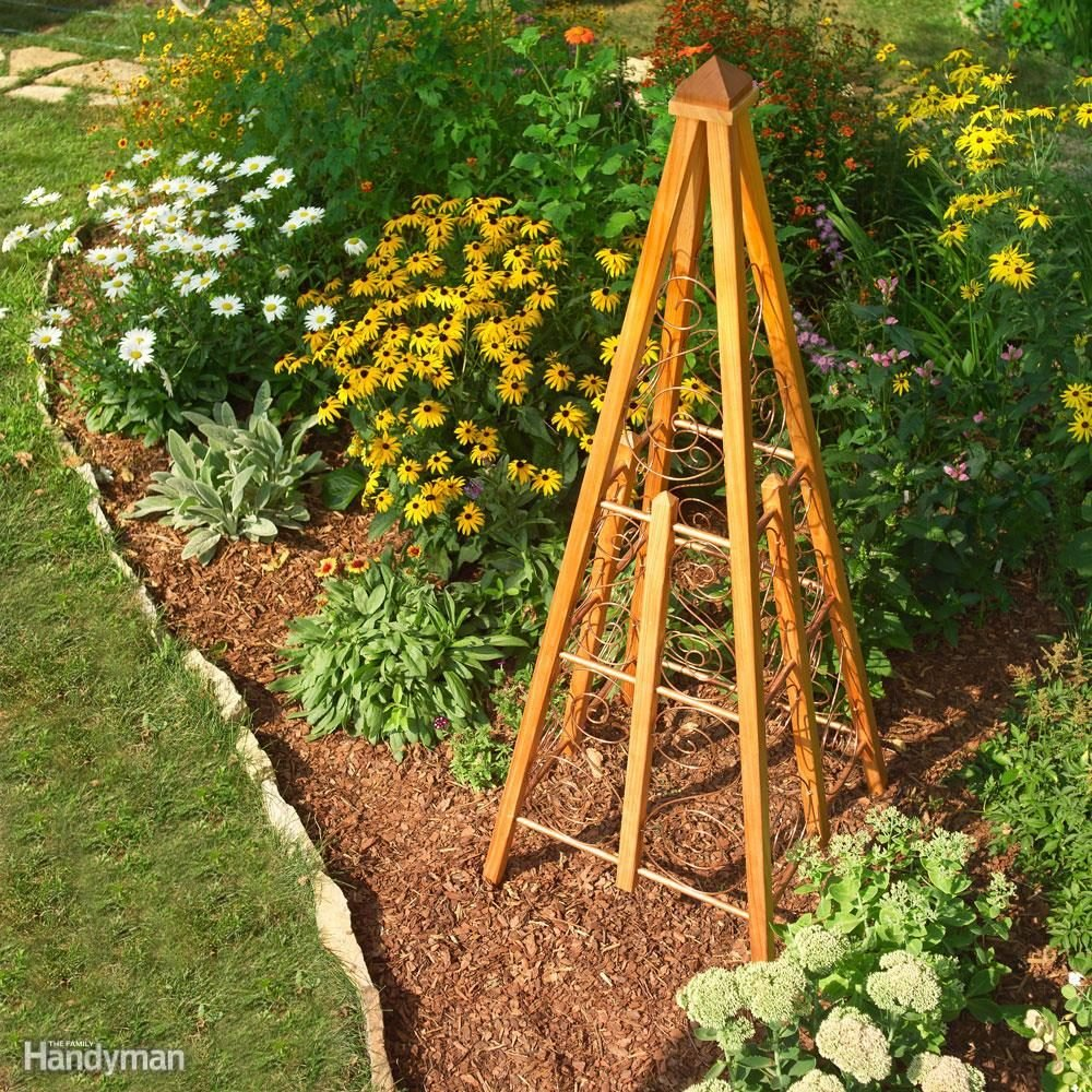 Cedar and Copper Trellis Planter