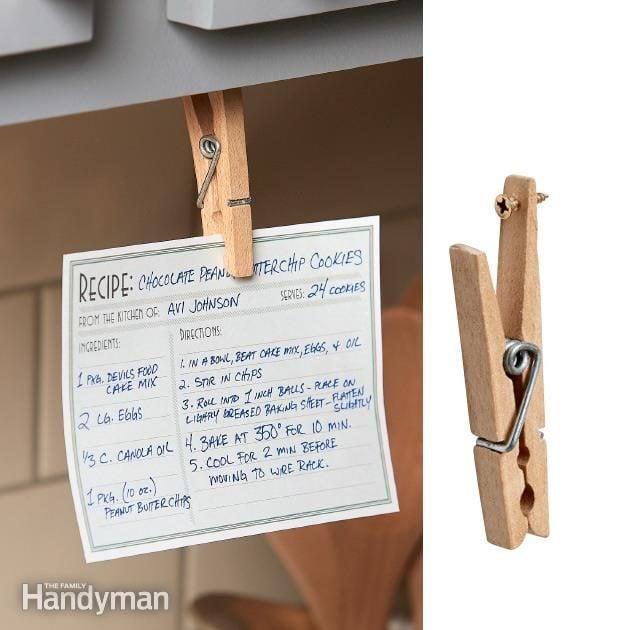 Flip-Down Recipe Holder