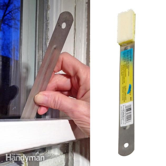 Paint Old Windows With a Bendable Pad