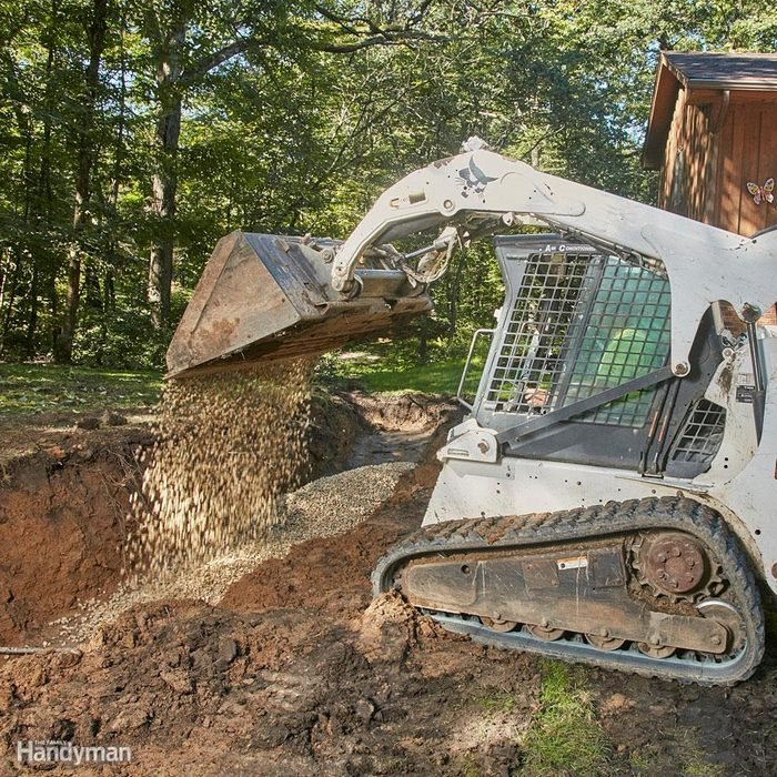 Lay a crushed stone base
