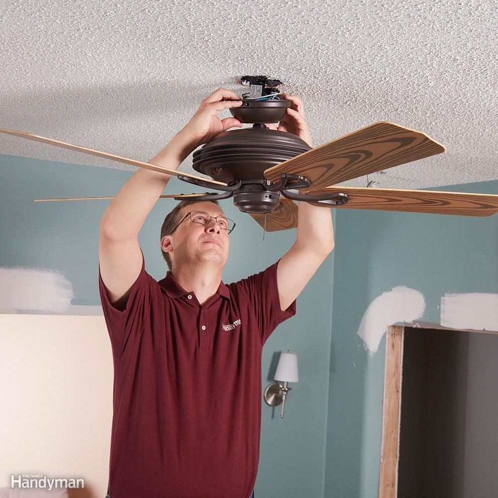 Remove ceiling fixtures and fans