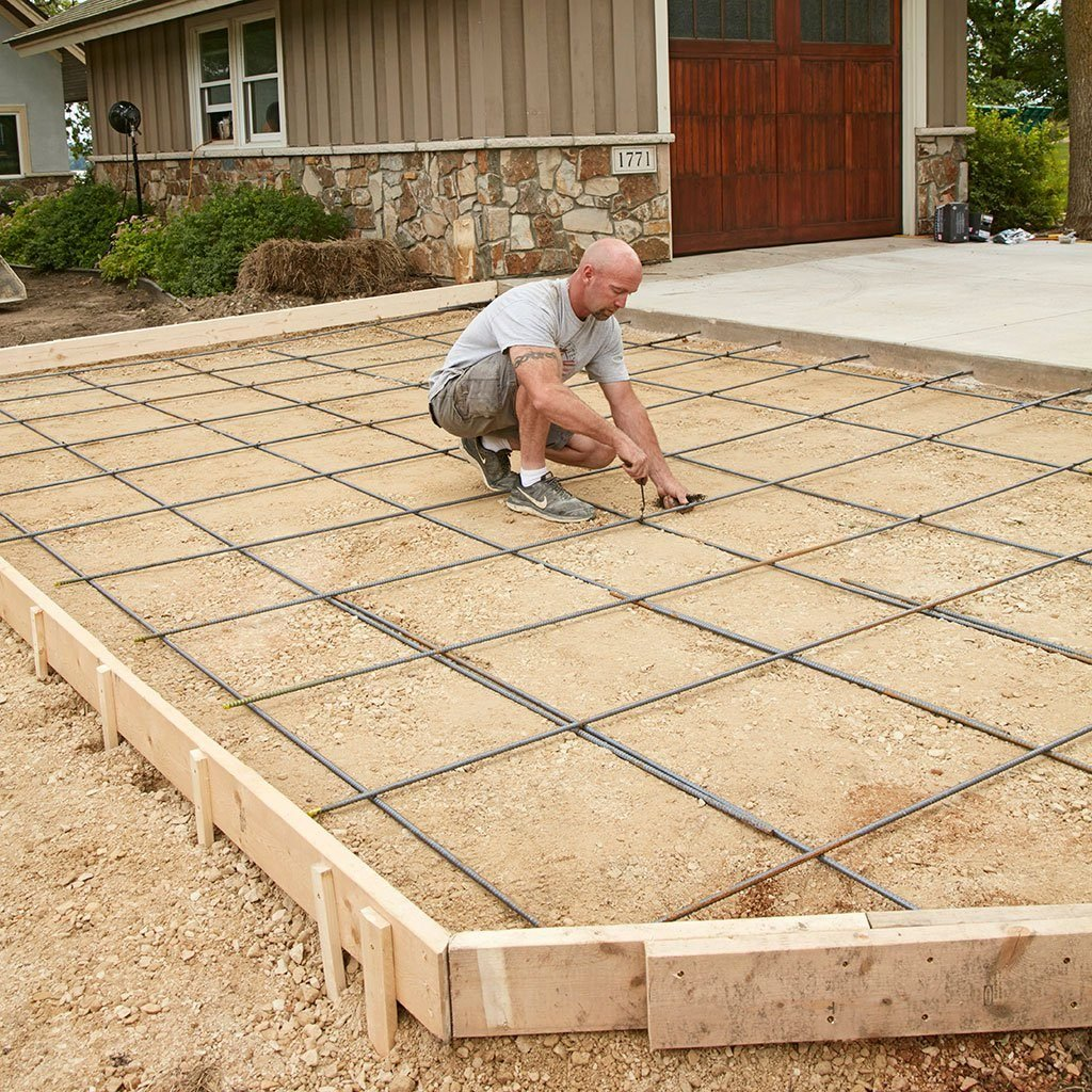 How To Prepare A Site For Concrete Base Forms And Rebar